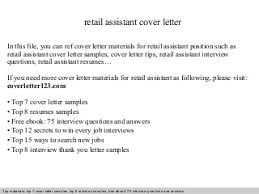 related post of retail assistant buyer cover letter retail assistant cover letter