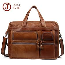 "<b>JOYIR</b> Vintage <b>Men Genuine Leather</b> Briefcase <b>Men</b> 15"" Laptop ..."