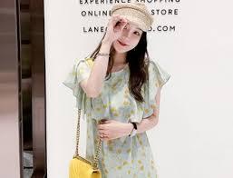 toa <b>design floral print</b> midi dress with ruffled mantle_6a07_green