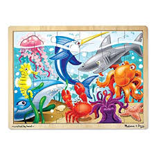 Melissa & Doug Under the <b>Sea Wooden Jigsaw Puzzle</b>