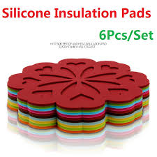 <b>6Pcs</b>/<b>Set Silica Gel</b> Insulation Pads Tableware Mattress Staging ...