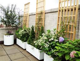 Small Picture Manhattan Roof Garden White Planters Terrace Deck Paver Patio