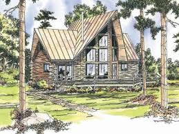 A Frame House Plans   The House Plan ShopA Frame Log House Plan  L