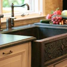 hammered copper kitchen sink: hammered bowl copper kitchen sink and faucet and white cabinets fine looking copper kitchen sink