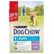 <b>Purina Dog</b> Chow <b>Puppy Сухой корм</b> для щенков с ягненком (2,5кг ...