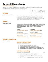 Aaaaeroincus Remarkable Free Resume Templates Best Examples For