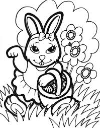 Small Picture Free Printable Easter Bunny Coloring Pages For Kids