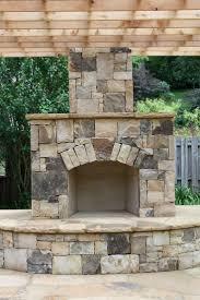 fireplace decorative brick panels patio lawn