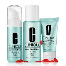 <b>Clinique Anti</b>-<b>Blemish</b> Solutions 3-Step <b>Acne</b> Facial Cleansing System