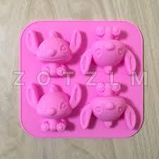 <b>Cartoon Animation</b> 4 <b>Lilo</b> Stitch Shapes Silicone Cake Mold <b>Cookie</b> ...