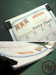 potty training chart printable the scrap shoppe stack the sheets up so they are all lined up nicely and attached them together 2 binder clips keep the binder clips near the top of the paper