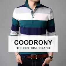 <b>COODRONY Long Sleeve</b> T Shirt Men Striped Casual Streetwear ...