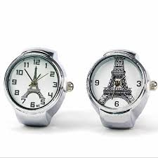 <b>2016 Hot Sale</b> Eiffel Tower Ring Watch For Women Stretch Quartz ...
