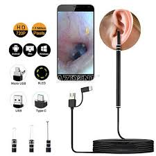 <b>3</b> in1 <b>Ear Cleaning Endoscope</b> USB 5.5mm Visual Earpick HD ...
