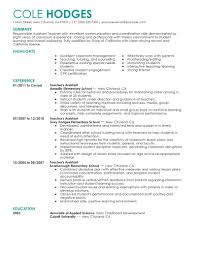 teacher sample resumes  socialsci coteacher sample resumes