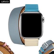 URVOI 2019 Double Tour strap for Apple Watch band <b>series</b> 5 <b>4 3 2</b> ...