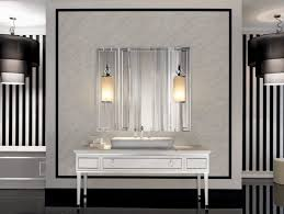 bathroom vanity with side lights of contemporary wall sconces medium size bathroom vanity milk glass tube pendant