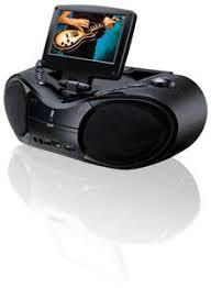 gpx btb portable dvd cd boombox inch screen gpx bt780b portable 7 inch dvd cd player am fm radio boombox black