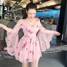 2019 New <b>Summer Vintage</b> Bandage Flowers Embroidery Dress ...