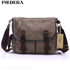 <b>PHEDERA Brand</b> Canvas Men Messenger Bags Casual Retro ...