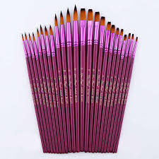 12/<b>24Pcs Nylon Hair</b> Wooden Handle Watercolor Paint Brush Pen ...