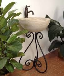 bathroom sink stand