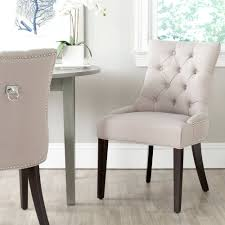 transitional dining chair sch: abbyson living jonah linen fabric tufted dining chair multiple colors walmartcom