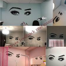 New Arrivals Big Eye Eyelashes <b>Wall Stickers Beautiful</b> Girls Eyes ...
