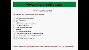 job interviews tips 12 reasons people fail an interview job interviews tips 12 reasons people fail an interview