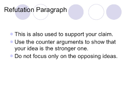 argumentative essay       refutation