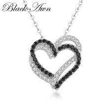 [<b>BLACK AWN</b>] Femme <b>Genuine</b> 100% <b>925</b> Sterling Silver Necklaces ...