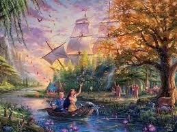 <b>Thomas Kinkade</b> Disney Dreams: <b>Pocahontas</b> - 750pc Jigsaw ...