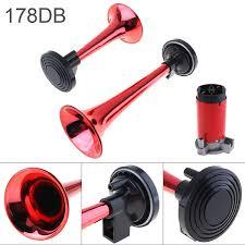 Hot Sale <b>178dB 12V</b> Super <b>Loud Dual</b> Tone Air Horn Set Trumpet ...