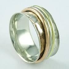 Thin Band <b>925</b> Sterling Silver Spinner Ring Sz 12 US (<b>4.8 g</b>) - 6429 ...