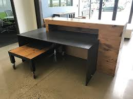 Custom Steel And Wood Office Desk Precision Installation