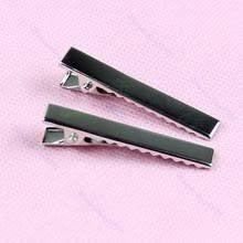 10 шт. металлические серебристые <b>зажимы для волос</b> ...