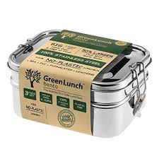 Amazon.com: <b>Stainless Steel</b> 3-in-<b>1</b> Bento Lunch <b>Box</b> with Pod ...