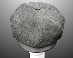 SUMMER Ivy Peaky Driver Derby Flat Cap Hat Cream Herringbone ...