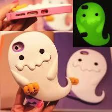 Cute 3D <b>Luminous</b> Ghost Pumpkins Silicone <b>Case</b> Cover for Apple ...