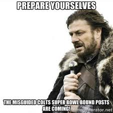 PREPARE YOURSELVES THE MISGUIDED COLTS SUPER BOWL BOUND POSTS ARE ... via Relatably.com