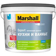 <b>Краска Marshall</b> Export <b>Кухни</b> и ванные BW матовая белая 4,5 л ...