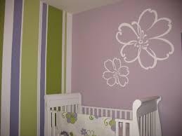 girls room decor ideas painting: bedroom beautiful purple wood simple design baby girl nursery painting ideas purple room white wood crib painting wall flowere furniture interior at house