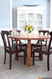 dining room table plans shiny: round trestle dining table free diy plans by rogue engineer inspired by this