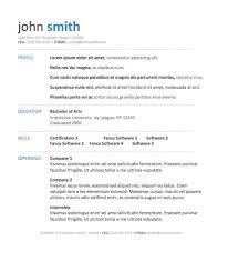 Resume Template Download Word  word templates download  free     Simple Template   Simple Resume Template In Microsoft Word Simple       free resume