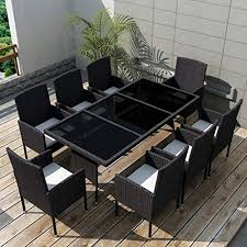 Tidyard <b>9 Piece Outdoor</b> Dining Set with - Buy Online in Guernsey at ...