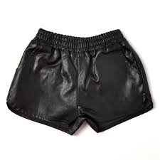 Online Shop <b>summer new</b> fake <b>leather</b> baby girls shorts pu boys ...