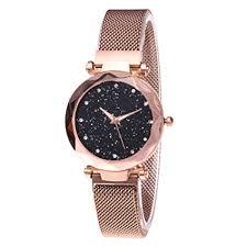 <b>Women's</b> Watches Fashion <b>Diamond Ladies Starry Sky</b> Magnetic ...