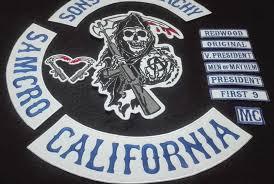 2015 <b>Blue 13pcs</b>/<b>set</b> Sons of biker patches for Vest clothing of ...