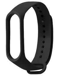 <b>Силиконовый</b> ремешок для браслета <b>Xiaomi Mi</b> Band 3/4, черный ...