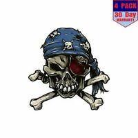 Sticker Decal <b>Skull</b> Pirate <b>Helmet Motorbike Bike</b> vinyl <b>bike</b> st5 X562W